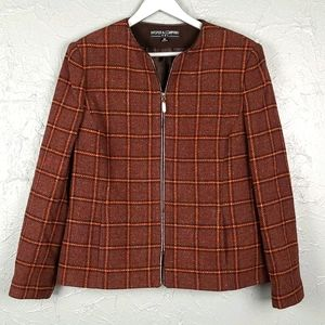 KASPER & COMPANY Plaid Wool Jacket
